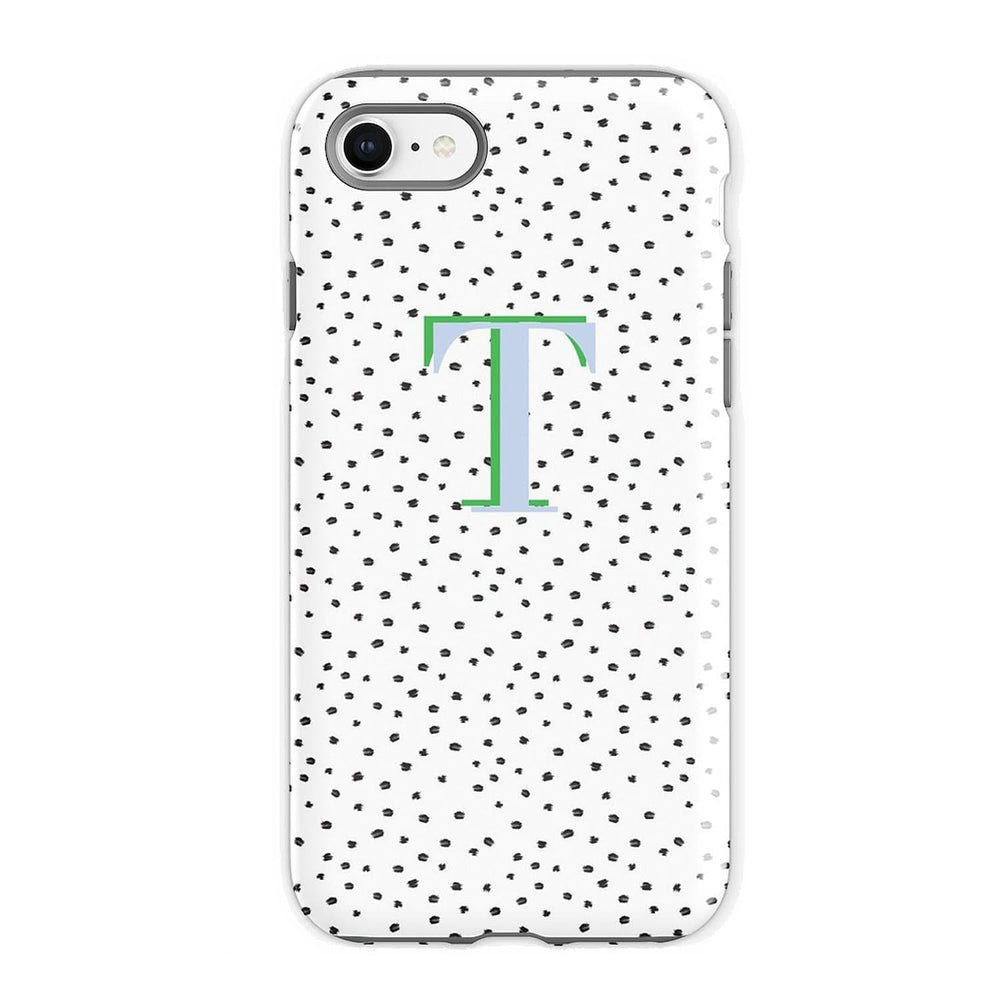 Personalised Phone Case | Polka Dot Style Maker Blue Green