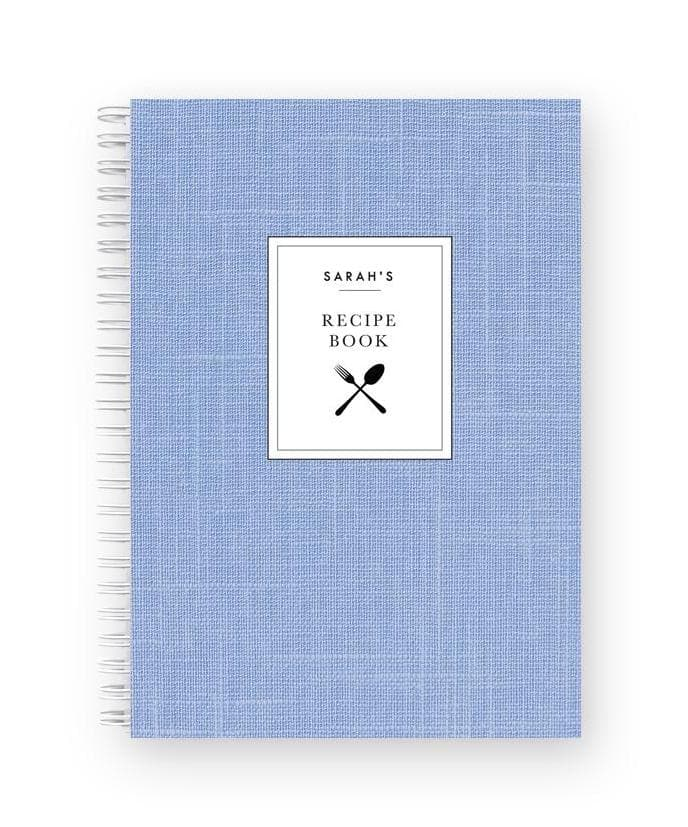 Blank Recipe Book | French Blue Linen - The Luxe Gift Co.