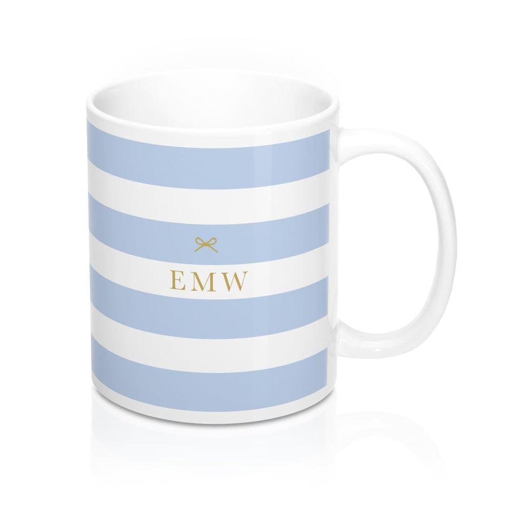 Personalised Mug | Tied with a Bow Blue