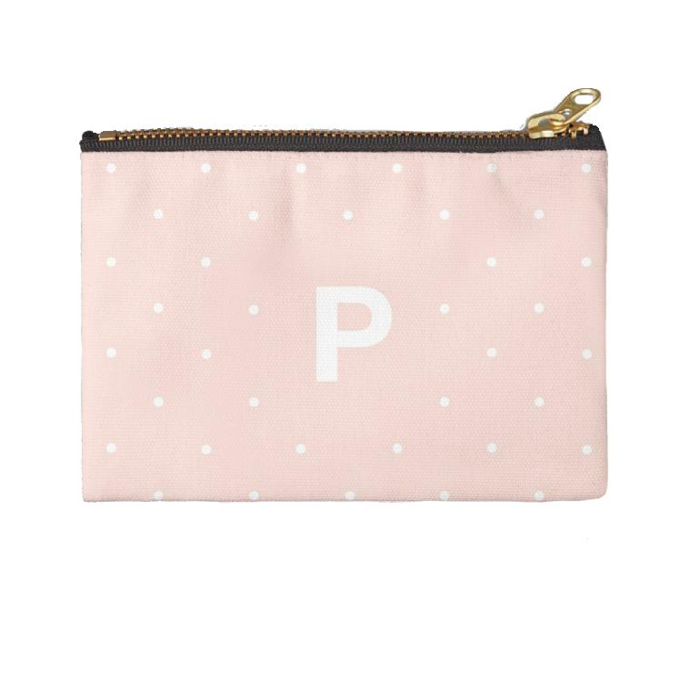Personalised Makeup Bag - Polka Perfection Blush