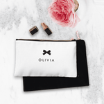 Personalised Makeup Bag - Black Tie Event - The Luxe Gift Co.