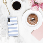 Personalised Phone Case | Stripe Chic Blue - The Luxe Gift Co.