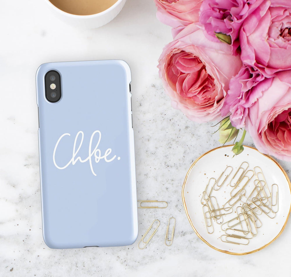 Personalised Phone Case | Signing Off Blue - The Luxe Gift Co.