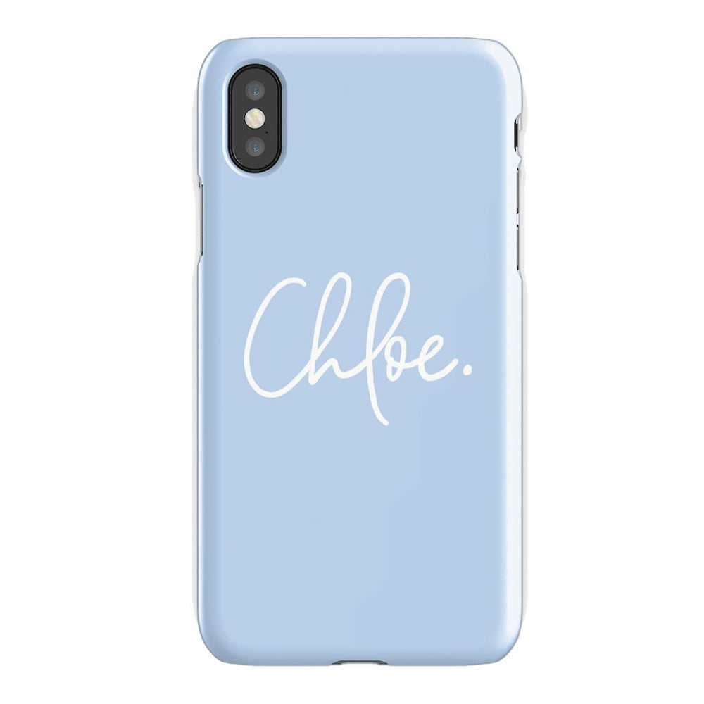 Personalised Phone Case | Signing Off Blue