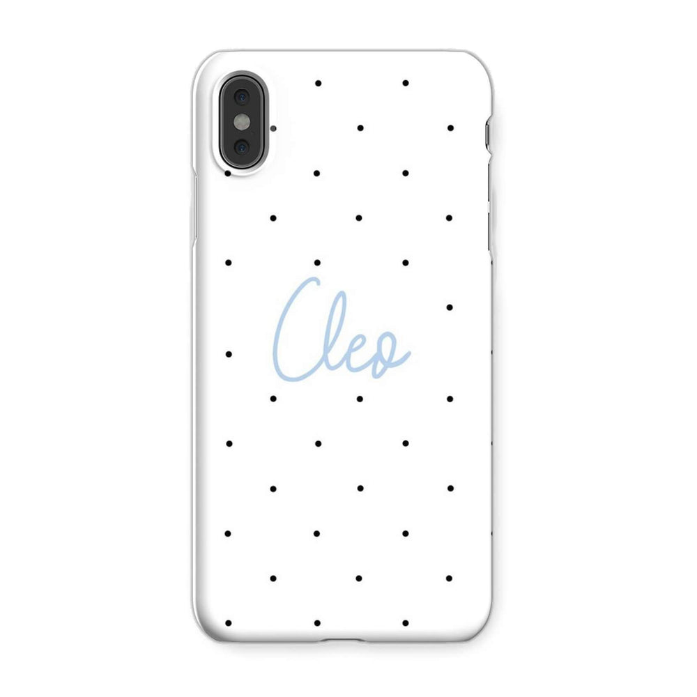 Personalised Phone Case | Polka Perfect Blue
