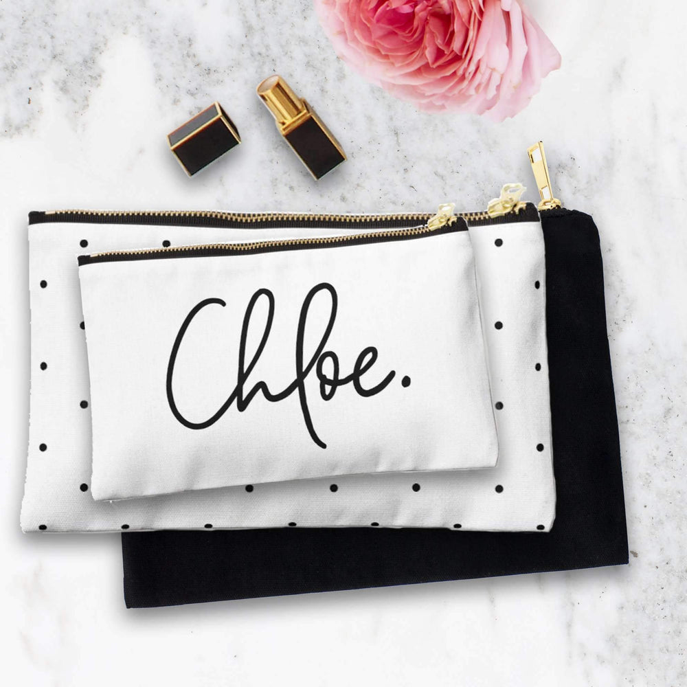 Personalised Makeup Bag - Sign your Name - The Luxe Gift Co.