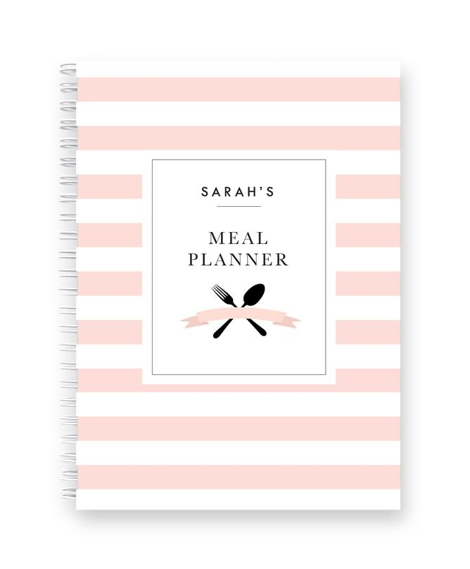 Personalised Meal Planner | Blush Stripes