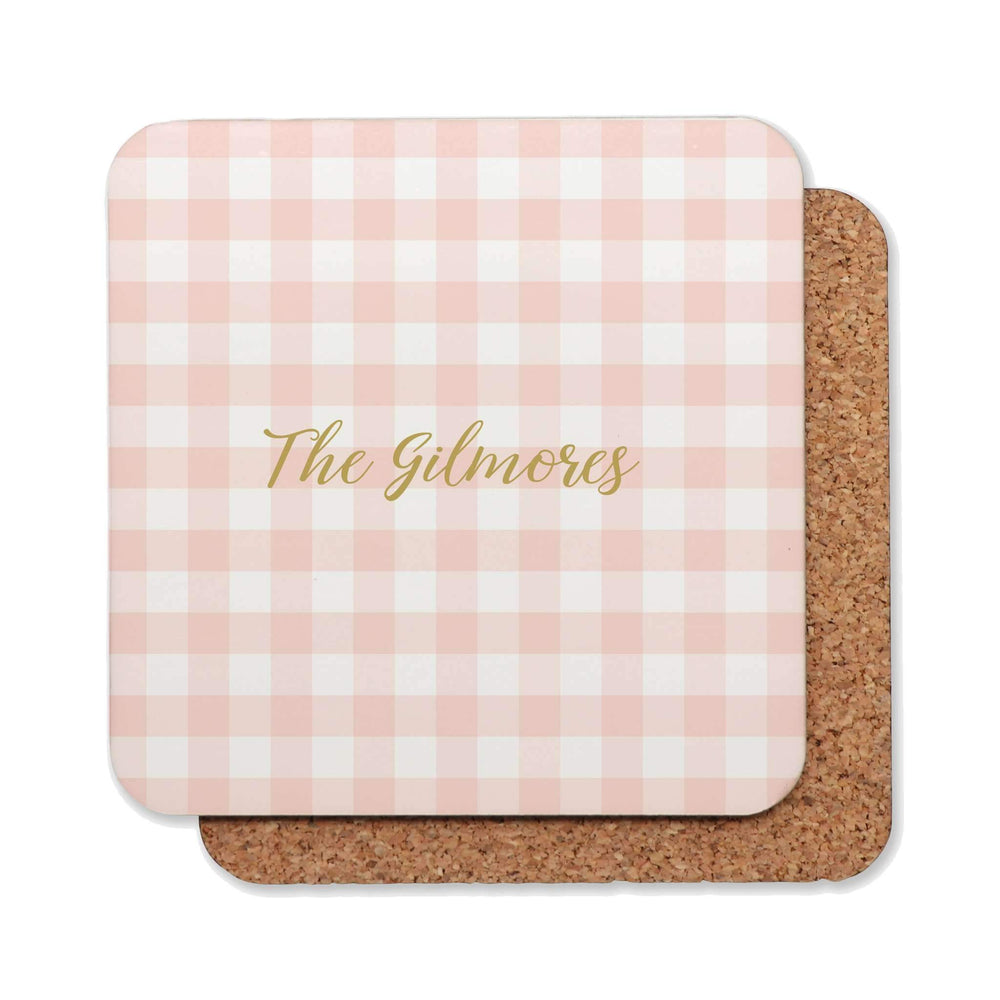 Drink Coasters Personalised | Gingham Goodness