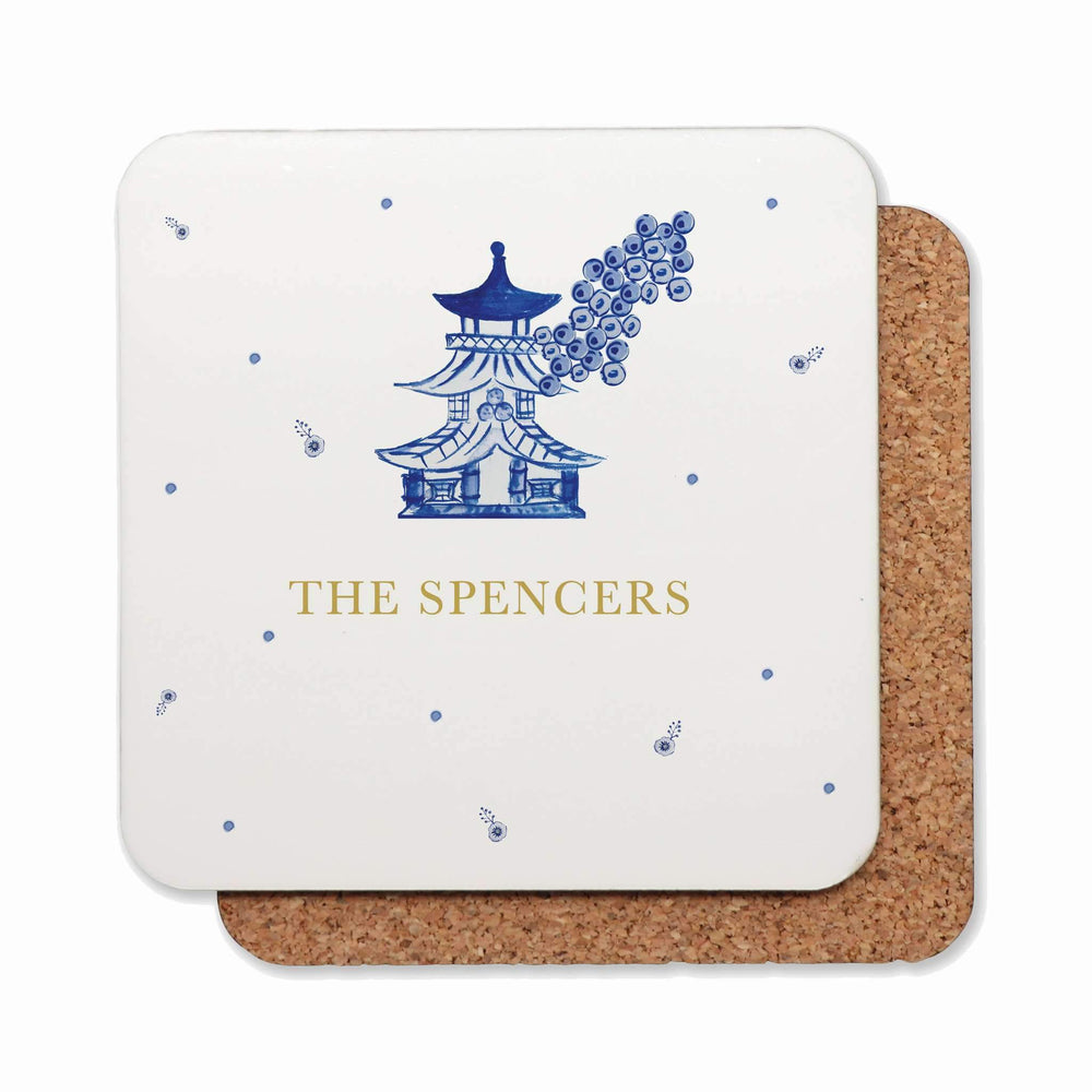 Drink Coasters Personalised | Modern Chinoiserie