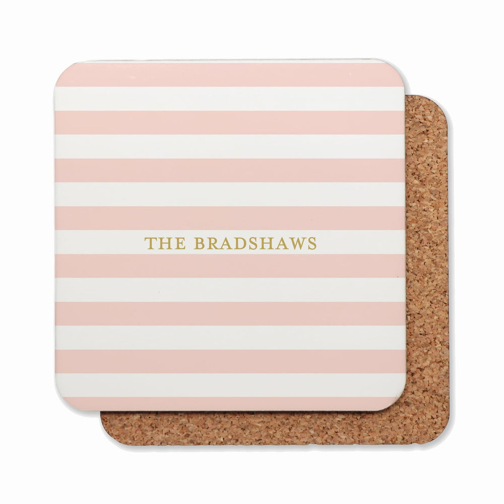 Drink Coasters Personalised | Classic Stripes