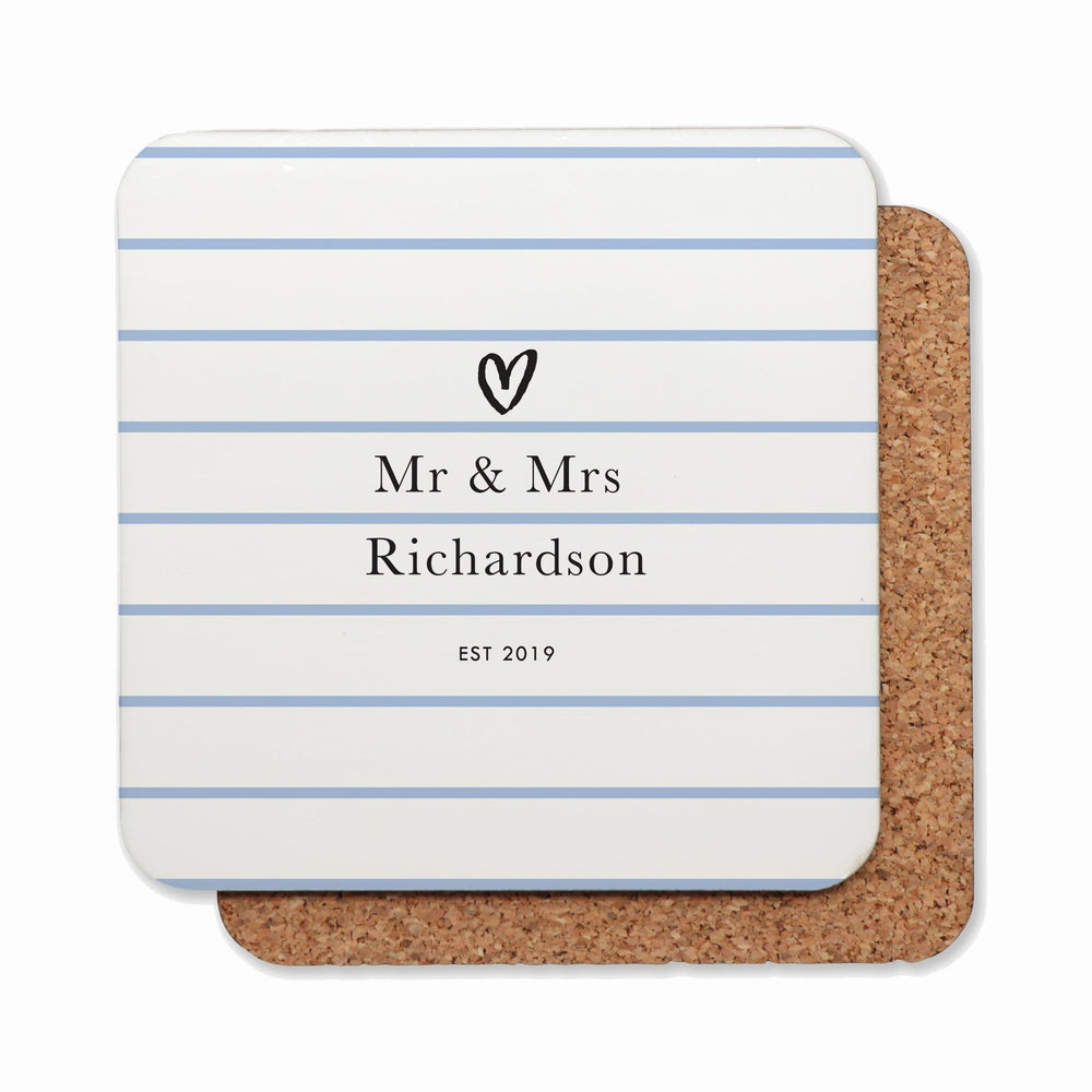 Drink Coasters Personalised | Loved Up in Bluebell
