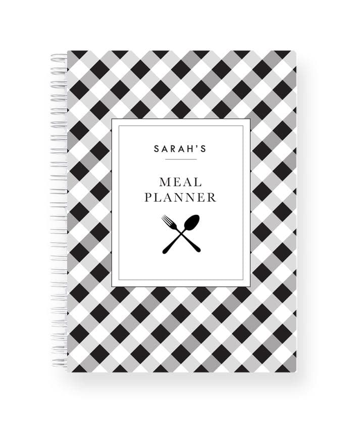 Personalised Meal Planner | Gingham Check