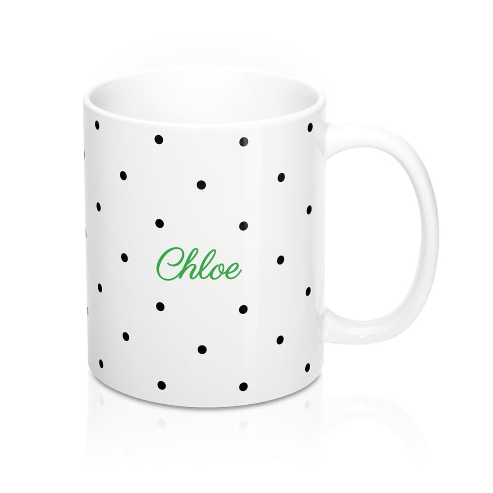 Personalised Mug | Going Spotty Green
