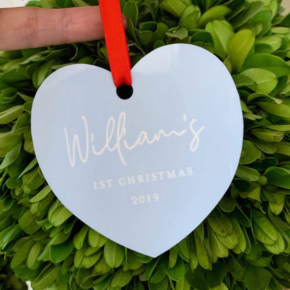 Personalised Christmas Ornament | Babys 1st Christmas Blue
