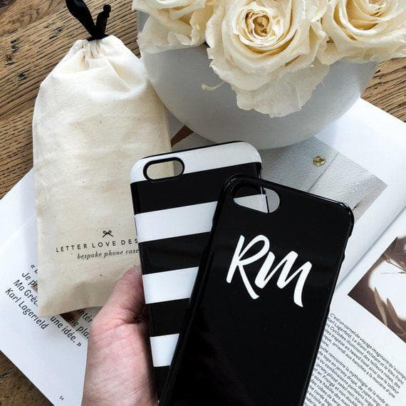 Personalised Phone Case | Statement Maker Black and Pink - The Luxe Gift Co.