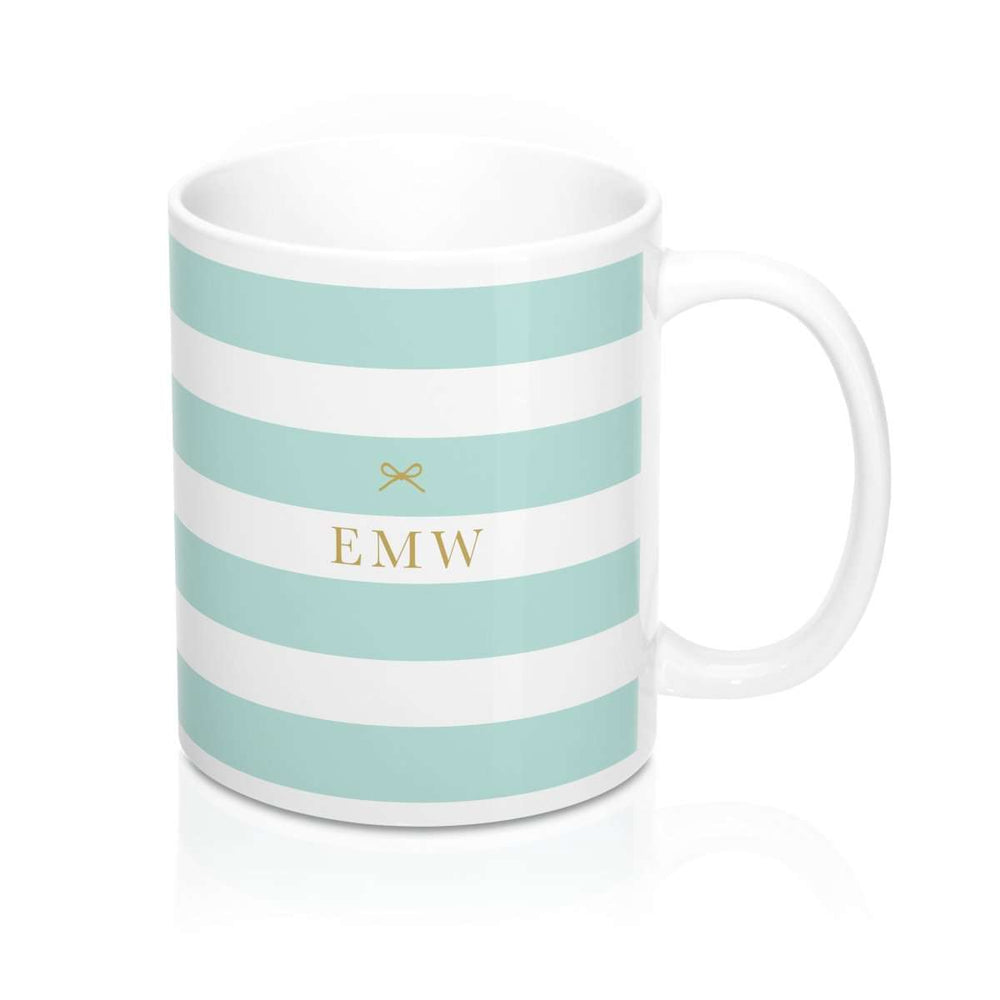Personalised Mug | Tied with a Bow Minty - The Luxe Gift Co.