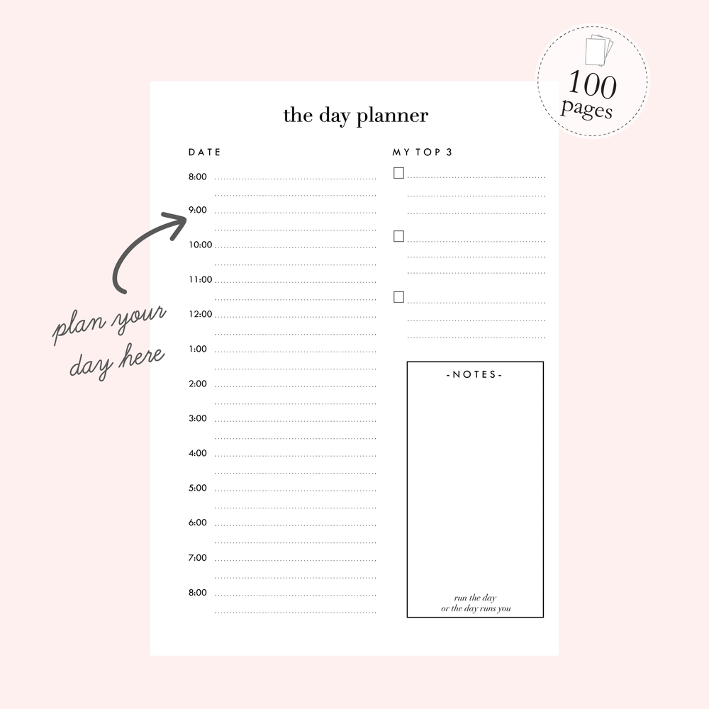 Daily Planner Notebook | It's a Frill - The Luxe Gift Co.