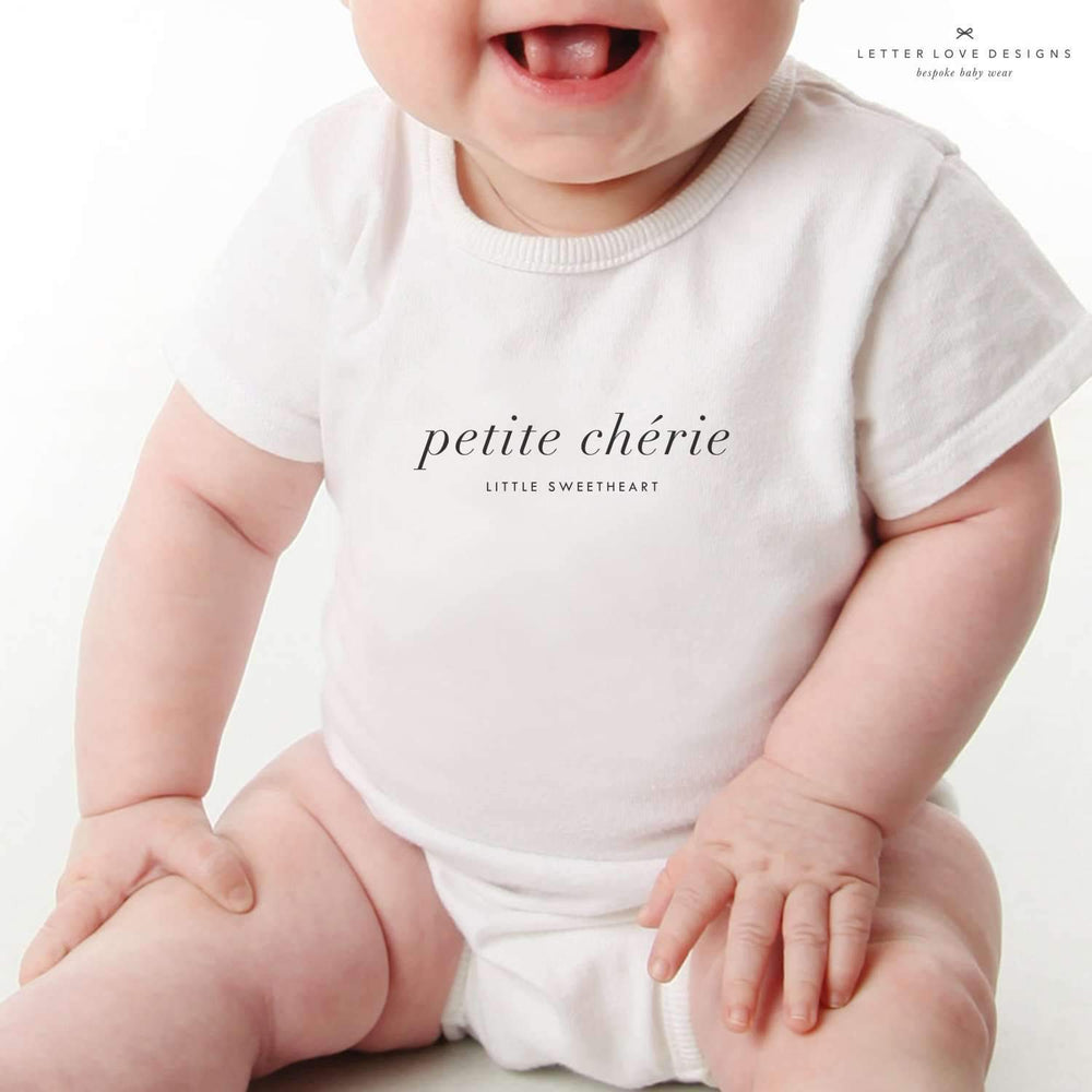Personalised Baby Onesie | My Darling - The Luxe Gift Co.