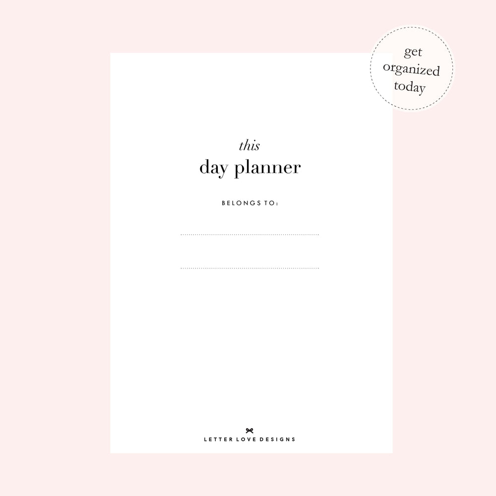 Daily Planner Notebook | Spot of Pretty - The Luxe Gift Co.