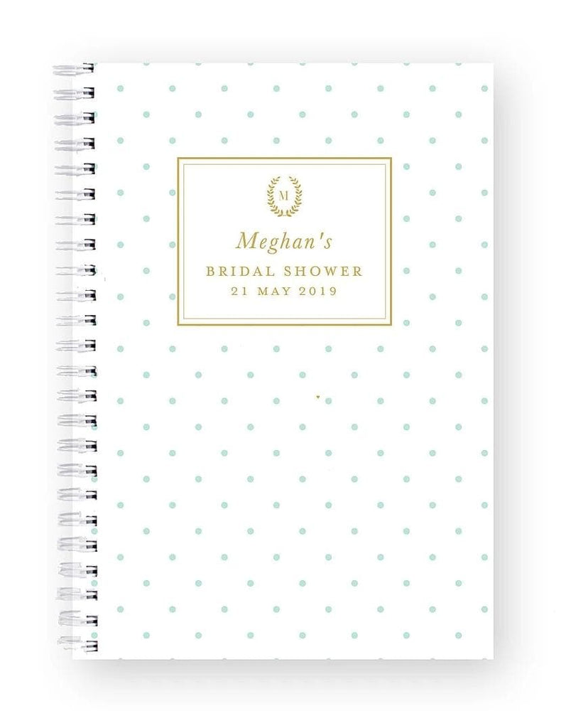 Bridal Shower Recipe Book | Classic Spots