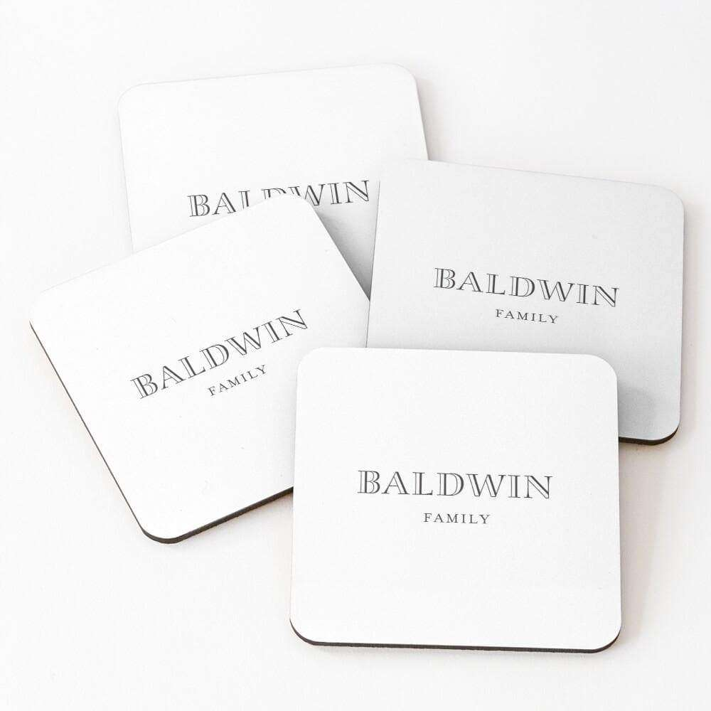 Drink Coasters Personalised | Fashion Chic
