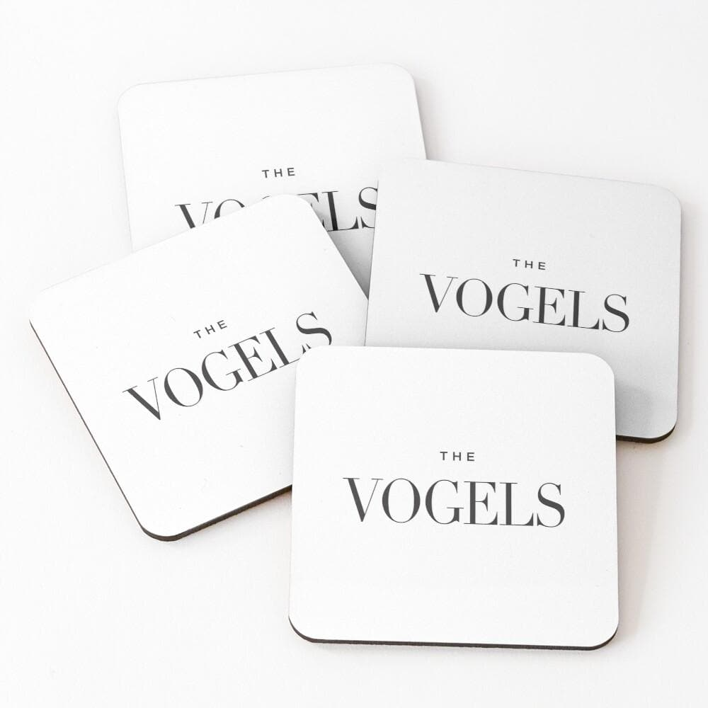 Drink Coasters Personalised | Vogue White - The Luxe Gift Co.