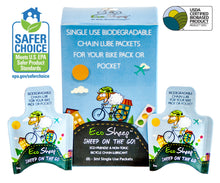 Eco Sheep SHEEP ON THE GO! - Single-use, Sheep Oil Based, Eco-friendly Bike Chain Lube - No Petroleum - EPA Safer Choice and USDA BioPreferred Approved Chain Lube - Eco-Friendly Paper Packets