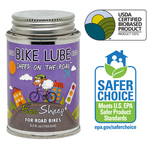 Eco Sheep SHEEP ON THE ROAD – Awesome Sheep Oil Based, Eco-friendly Bike Chain Lube for Road Bikes and Roadies - No Petroleum - EPA Safer Choice and USDA BioPreferred Approved Chain Lube