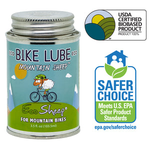 Eco Sheep MOUNTAIN SHEEP – Awesome Sheep Oil Based, Eco-friendly Bike Chain Lube for Mountain Bikes - No Petroleum - EPA Safer Choice and USDA BioPreferred Approved Chain Lube