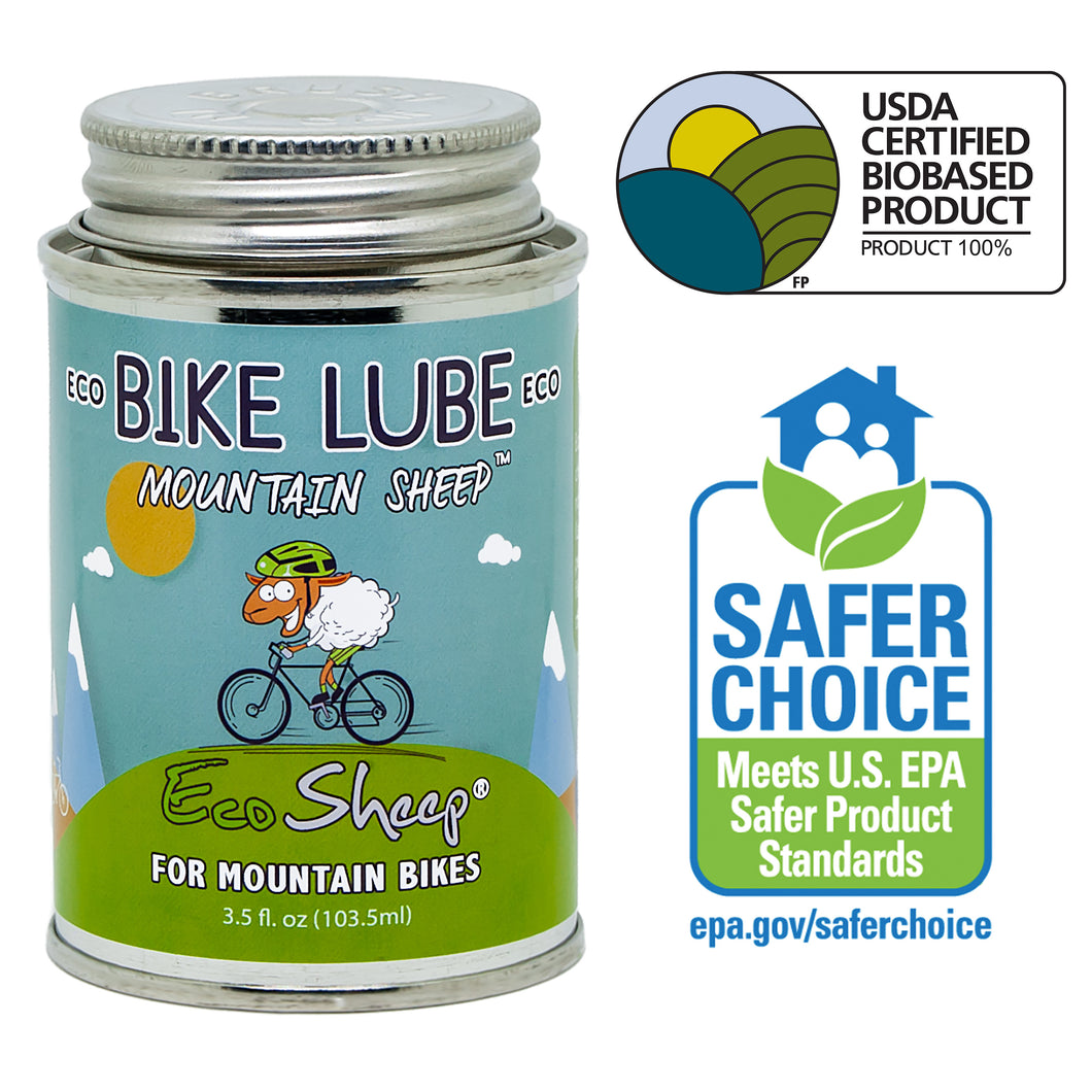 Eco Sheep MOUNTAIN SHEEP – Awesome Lanolin-based, Eco-friendly Bike Chain Lube for Mountain Bikes - No Petroleum - EPA Safer Choice and USDA BioPreferred Approved Chain Lube