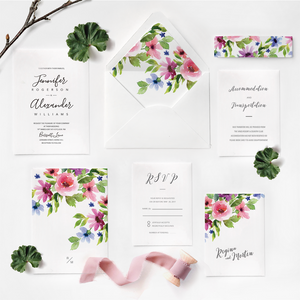 16. Merry Blooming Wildflowers Bouquet Garden Invitations