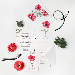 44. Subtle Poppy Petals Bloom Invitation