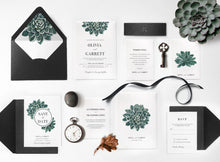 01. Gorgeous Greenery Giant Succulent Invitation