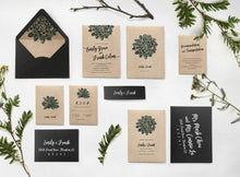 Tropical succulent wedding invitation stationery sweetdatesprints