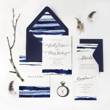 Ocean nautical wedding invitation wedding stationery sweetdatesprints