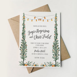 24. Pastoral Woodland Romance Invitation