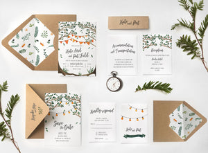 03. Under Canopy String of Lights Country Rustic Invitation