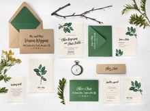 11. Organic Natural Leaves Rustic Botanical Invitations