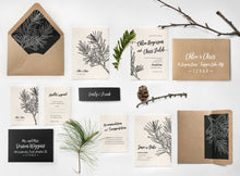 08 Sketched Pine Natural Rustic Woodland Invitation