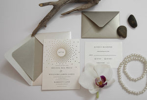 29. Swirly Polka Dots Glamour Invitation