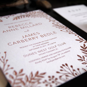 20. Resplendent Gilded Flowers Garden Invitation