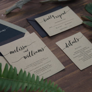 38. Rustic Charm in Modern Calligraphy Invitation