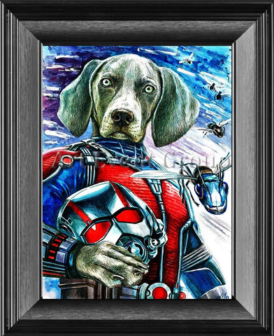 Ant Man Dog Modern Silver / 11 X 14 Canvas Print