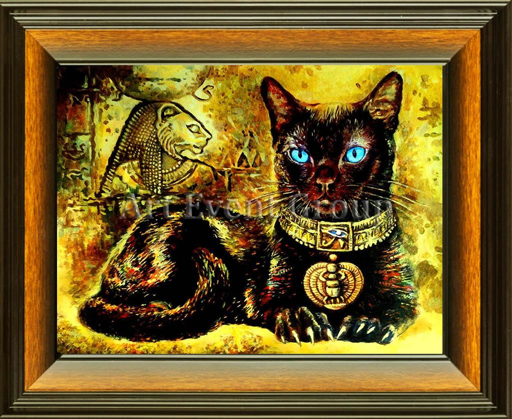 BASTET in Framed Canvas Art at www.all-art4sale.us. $46.00
