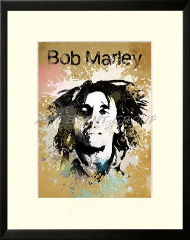 BOB MARLEY. SPLATTER ART in People Art Prints at www.all-art4sale.us ...