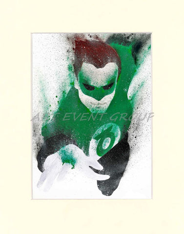 Green Lantern Matted Art Print / 8 X 10 & Wall Art You will Love at Great Low Prices! - green-lantern-dog