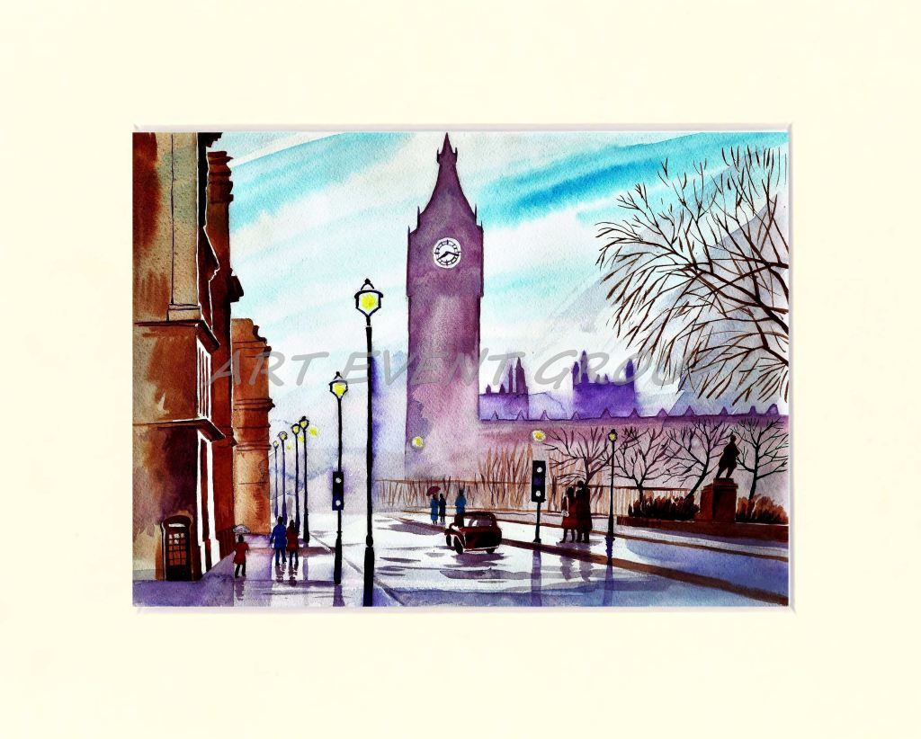 london watercolor in original art at www 135 00