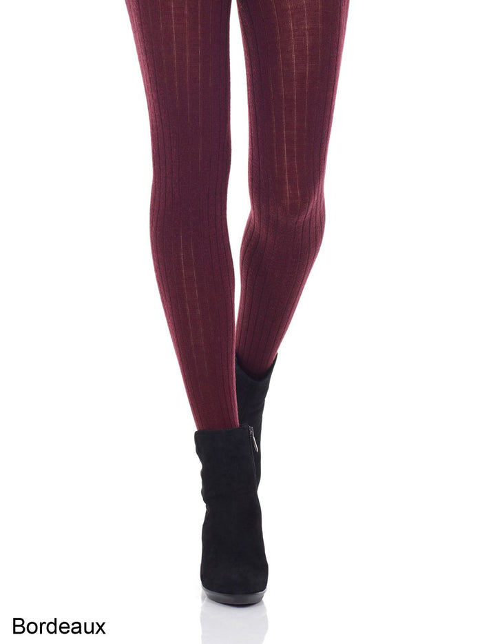 Mondor Merino Wool Ribbed Tights
