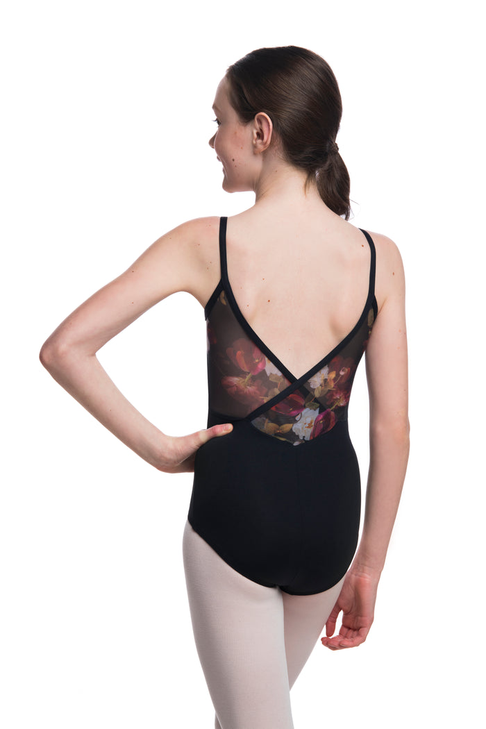Ainsliewear Girls Allegra Pinch with Autumn Bloom Mesh