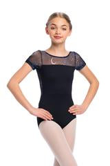 Ainsliewear Bonnie Leotard with Night Sky Mesh - Girls